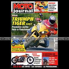 MOTO JOURNAL N°1727 PIAGGIO MP3 TRIUMPH 955 & 1050 TIGER GRAND PRIX SEPANG 2006