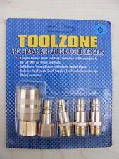 Toolzone 5pc PRO Fine Linea Aria attacco Rapido Set Compressore Accoppiamento 1/4 NPT BSP