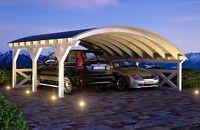 Bogendach Carport 6.40 x 6.00 mit 33% Onlinerabatt Carport ab Werk