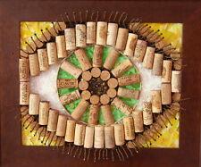 "Handmade Cork and Glass Mosaics - ""Eye of the Mind"""