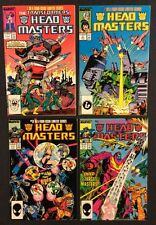 TRANSFORMERS HEAD MASTERS #1 - 4 Comic Books FULL SERIES Marvel 1987 Decepticons