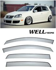 For 06-09 VW Golf GTI MK5 & Raibit Hatch WellVisors Side Window Visors