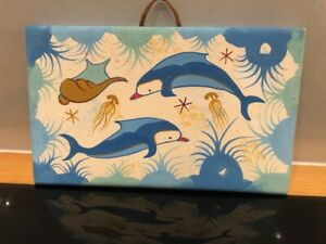 Vintage Ceramic Greek Dolphin Plaque - Numbered Edition