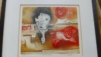 Gary Tricker original abstract surrealism etching  The Red Horse 2/25 signed