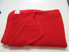 NWOT- PORTOLANO KIDS RED BABY BLANKET 38X31