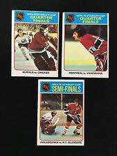 (3) TOPPS 1975 STANLEY CUP FINALS VINTAGE HOCKEY CARDS