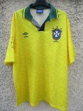 Maillot BRÉSIL BRASIL vintage UMBRO World Cup USA 1994 jersey shirt trikot L