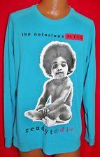 NOTORIOUS BIG Ready To Die BROOKLYN MINT Blue SWEATSHIRT L Hip Hop Rap B.I.G.