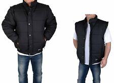 Herren Outdoor Jacke und Weste 2 in 1 mit abnehmbaren Ärmeln Schwarz