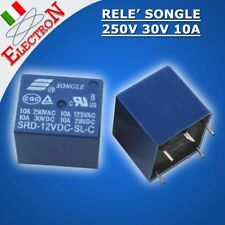 Mini Relay Relè 12V 250Vac 30Vdc / 10A relè di potenza Songle 1SRD-12VDC-SL-C