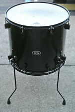"PDP by DW 805 SERIES 18"" BLACK ON BLACK FLOOR TOM for YOUR DRUM SET! LOT #K29"