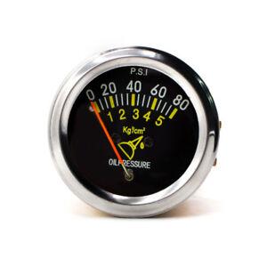 "2"" 52mm Universal Mechanical Auto Car Oil Press Pressure Gauge Meter 0-80 PSI"