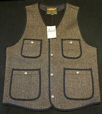 IRON HEART IHV-09 WOOL COTTON BEACH VEST CLOTH WESTE XL (L) BROWN BRAUN JAPAN