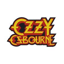 Official Licensed - Ozzy Osbourne - Logo Cut Out Sew On Patch Metal Rock