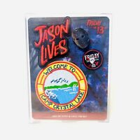 JASON LIVES Iron-On Patch & Lapel Pin Set Friday The 13th BRAND NEW