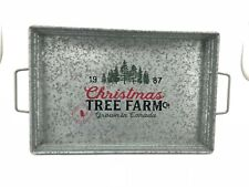 Christmas Serving Tray: Decorative Tray | Rustic | Silver (SH22-05)