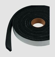 "New! 06593 M-D WEATHERSTRIPPING TAPE Blk Rubber Self Adhesive 1/4"" x 3/4"" x 10'"
