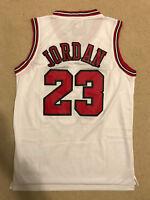 Michael Jordan #23 Throwback Chicago Bulls White Mens Jersey