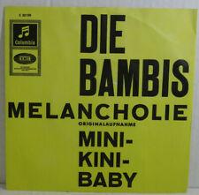 """DIE BAMBIS - Melancholie 👉 7"""" Single Vinyl -Columbia 1964 -nMint"""