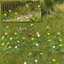 BNIB OO / HO BUSCH 1220 GARDEN DANDELIONS & SMALL ANIMALS - FLOWERS / PLANTS KIT