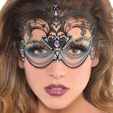 Ladies Masquerade Princess Mermaid Sea Filigree Face Metal Jewel Mask Halloween