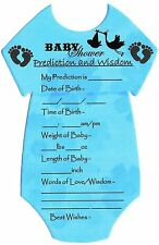 Baby Shower Games/Gift for MUM Prediction Cards(10 Players) CHEAPEST £1.99 ONLY!
