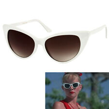 f10553ccba6 Womens White Cat Eye Sunglasses Vintage Retro 50 s Wendy Peffercorn Movie  Star