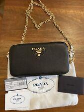 Prada Saffiano Mini Crossbody Bag Black