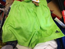 ADIDAS  FOOTBALLSHORTS  POLYESTER 30  OR 34 inNC  LIME £4
