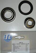 Simca 900-1000-1300-1301-1500-1501 kit de roulements de roue AV ISO'R FW-12