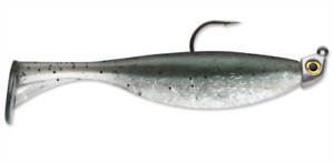 """Storm 360GT Largo Shad Jig 1/8 oz """"Silver Mullet"""" (1 Rigged & 3 Extra Bodies)"""