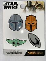 Funko Disney Star Wars Mandalorian Baby Yoda The Child Four Enamel Pin Set Lot 4