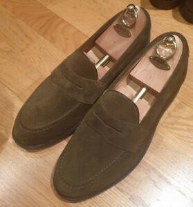 New Men's Loake 'Eton' Green Suede Shoes UK 8.5F