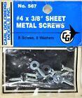 Carl Goldberg 567 #4 x 3/8 Sheet Metal Screws GBG567