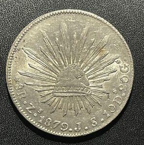 Mexico 1879 ZsJS 8 Reales Silver Coin