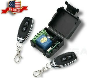 12V DC transmitter 433Mhz Wireless Switch 2 Remote Control for Lights on and off