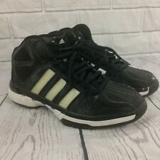Adidas High Top Basketball Shoes Mens Black And White US Size 7