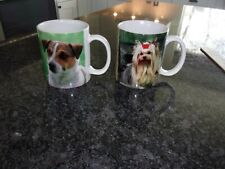 Cup/Mug Set Of 2 - Dog Breeds Profiles - Yorkie And Jack Russell Terrier