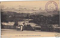 64 - cpa - PAU - Le Gave et la chaîne des Pyrénées