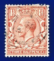 1912 SG362 1½d Red-Brown N18(1) Good Used auda
