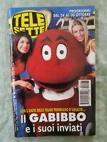 65) TELESETTE ITALIAN MAGAZINE N 43/1999 CANALIS FREDDI VANESSA KELLY HUNZIKER