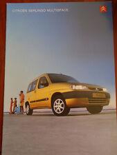 Citroen Berlingo Multispce range brochure Jan 2001