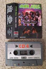 Overkill - Taking Over - Cassette Tape CD-4 VERY RARE Thrash Metal