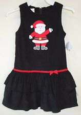 NWT Lolly Wolly Doodle Appliqued Santa Holiday Dress / Jumper ~ Size 4