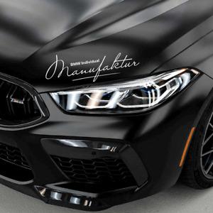 "BMW Individual Manufaktur Holographic 12"" vinyl decal 2x set Performance Emblem"