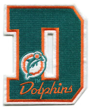 """MIAMI DOLPHINS - 5"""" NFL FOOTBALL LETTER PATCH"""