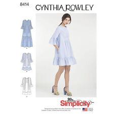 Simplicity 8414 aka 0752 Sewing Pattern Misses Size 6 XS - 24 XL Pintuck Dress