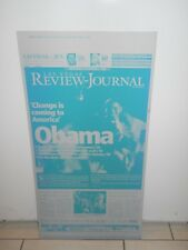 Barack Obama Las Vegas Review Journal Metal Proof from November 5, 2008 VHTF