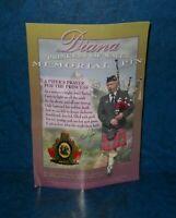 Diana Princess of Wales Memorial Pin Pipes and Drums 1998 Tac Back Pin
