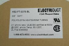 Electriduct Heat shrink tubing 2:1 50 FT 3/8'' Cat: HS2-FT-0375-BL  BLUE